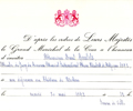 Invitation card. May 30, 1972