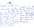 Letter Maison de la Reine Elisabeth. May 31, 1960