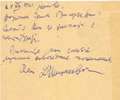 Postcard D. Shostakovich. December 28, 1961