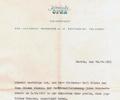 Letter W. Rackwitz (Komische Oper). October 10, 1983