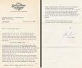 Letter K. Masur. May 27, 1974