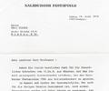 Letter Dr. O. Sertl (Salzburger Festspiele). July 19, 1979
