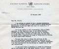 Letter D. Hammarskjöld (United Nations). October 17, 1955