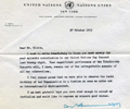 Letter D. Hammarskjöld (United Nations). October 27, 1955